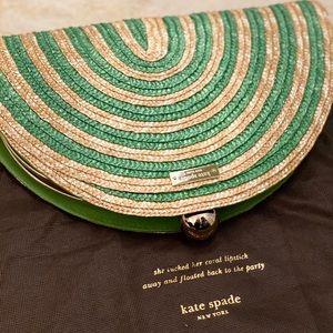 Brand New Kate Spade straw clutch